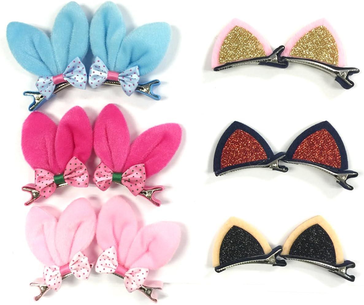 Party Favor Girl Gift Bunny Ears Pink Bunny Hair Clip  Easter Bunny Hair Bow Spring Hair Bow Bunny Birthday Rabbit Clip