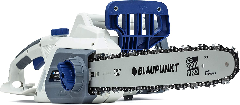Motosierra eléctrica Blaupunkt CS3000 Potencia 2200W | Espada de 40 CM | Freno de cadena automático | Ligero 6 Kg | Sistema SDS | Cadena Oregon | 3 años de garantia