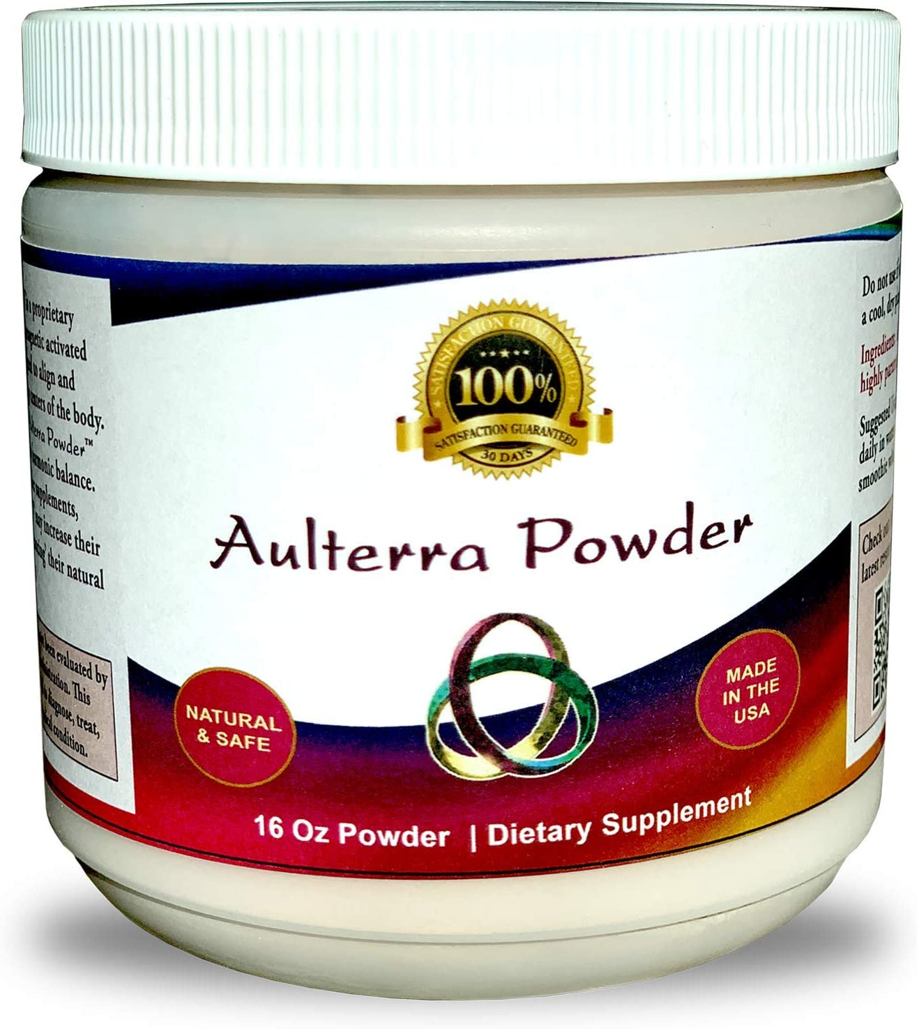 Aulterra Powder Supplement for EMF Protection, Proprietary Blend of Paramagnetic Minerals Neutralizes Harmful EMF (1lb Jar)