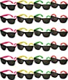Funny Party Hats TM bulk wholesale Lot - neon Party Sunglasses,24 Pairs
