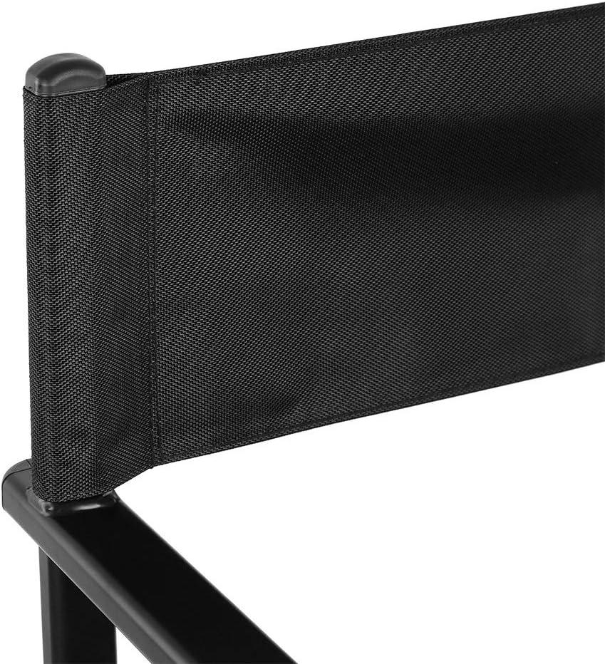 Sedia da Regista Pieghevole in Alluminio Tessuto di Nylon Sedia da Trucco Pieghevole Sedia da Regista Pieghevole in Lega di Alluminio Professionale per Casa e Salone Lega di Alluminio