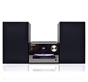 Toshiba TY-ASW91 Micro Component Speaker System: Wireless Bluetooth Speaker Sound System with FM, USB & CD, AUX Input, LED Display andRemote Control