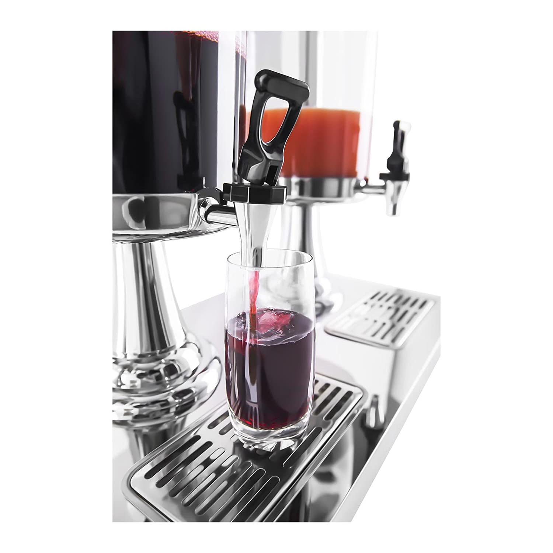 2x7L, incl. bacs /à /égouttements, pour verres de 14,5 cm max. de hauteur, 4 pieds antid/érapants en caoutchouc Royal Catering Fontaine /à Boissons Distributeur de Boissons RCSD-2