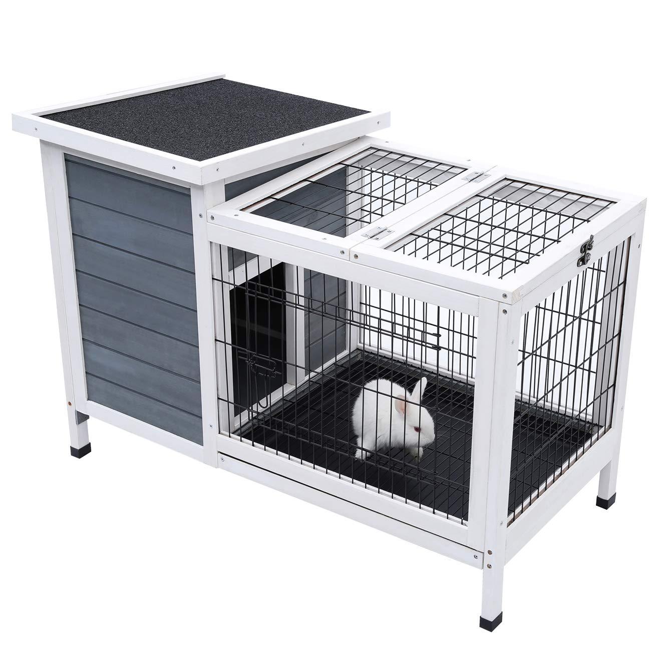 Sunnyglade Rabbit Hutch,Bunny Cage,Bunny Hutch Wood for Indoor Use