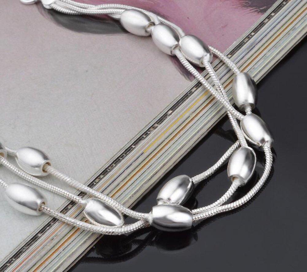 67f5b1ecbbd1 Hosaire Pulsera de Plata de Multicapa Aceitunas Perla Pulseras Mujeres de  la Joyería Accesorios  Amazon.es  Hogar