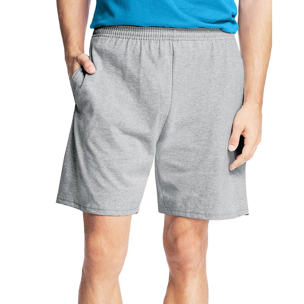 Hanes Men's Jersey Cotton Shorts_Light Steel_2XL