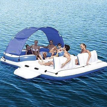 CHENGYI cama flotante, El flotador inflable grande del agua del barco monta la cama flotante