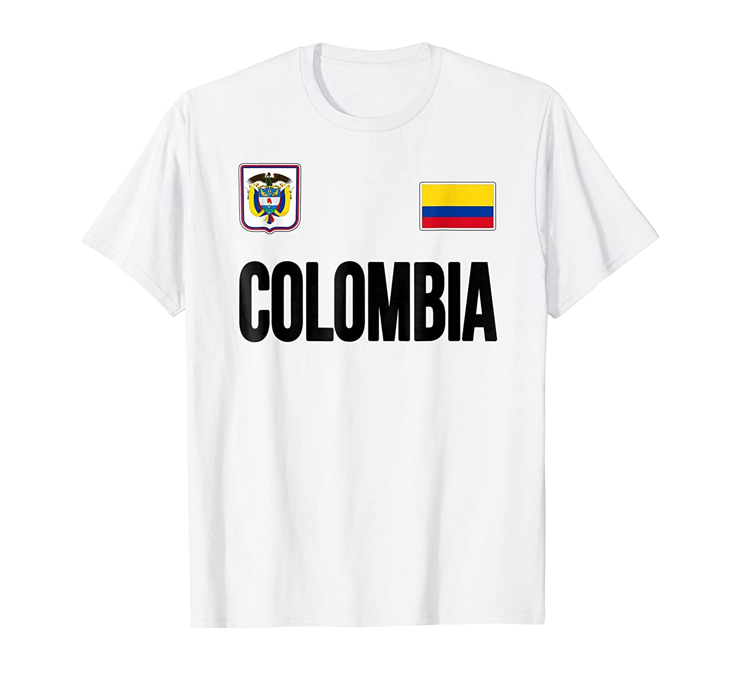 Amazon.com: COLOMBIA T-shirt Colombian Flag Soccer Jersey Style: Clothing