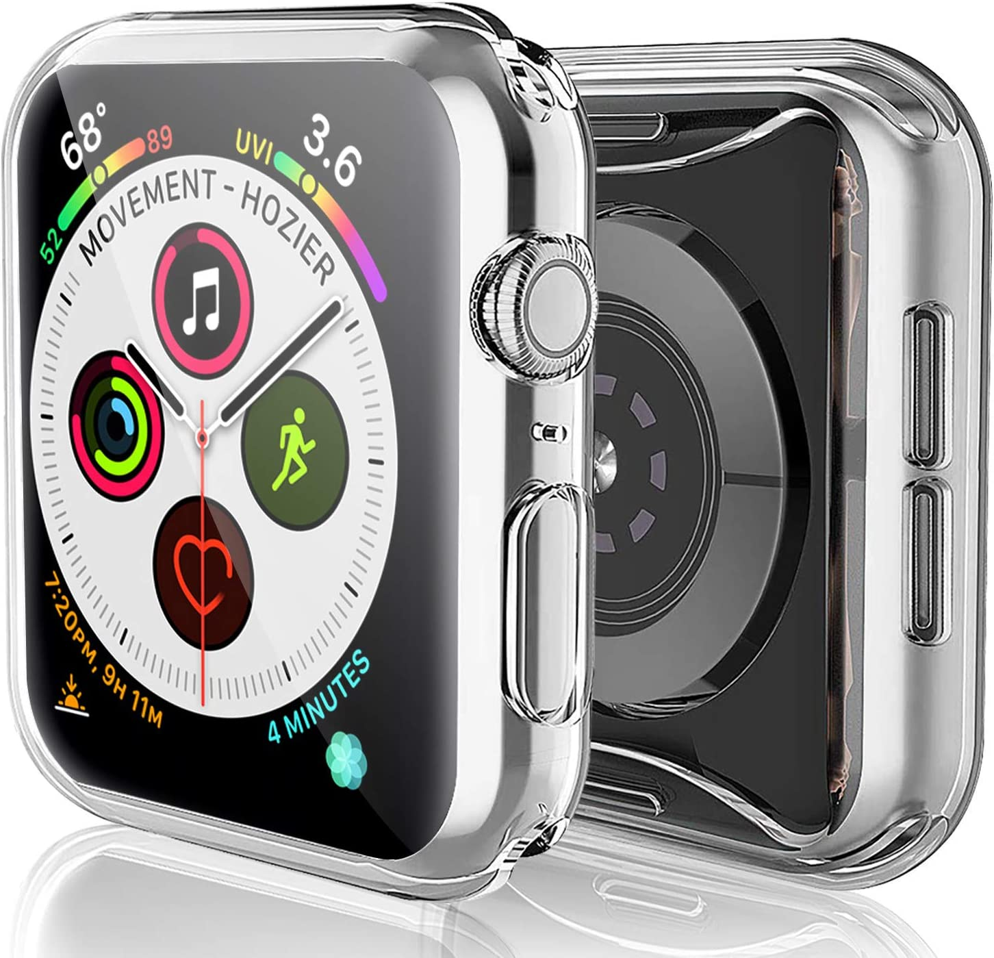 HBorna Protector for Apple Watch Series 4 44mm Case for iWatch Screen Protector (2 Pack)