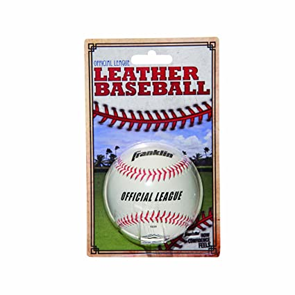 974d4d25764 Image Unavailable. Image not available for. Color  Franklin Sports Official  League Leather Baseball