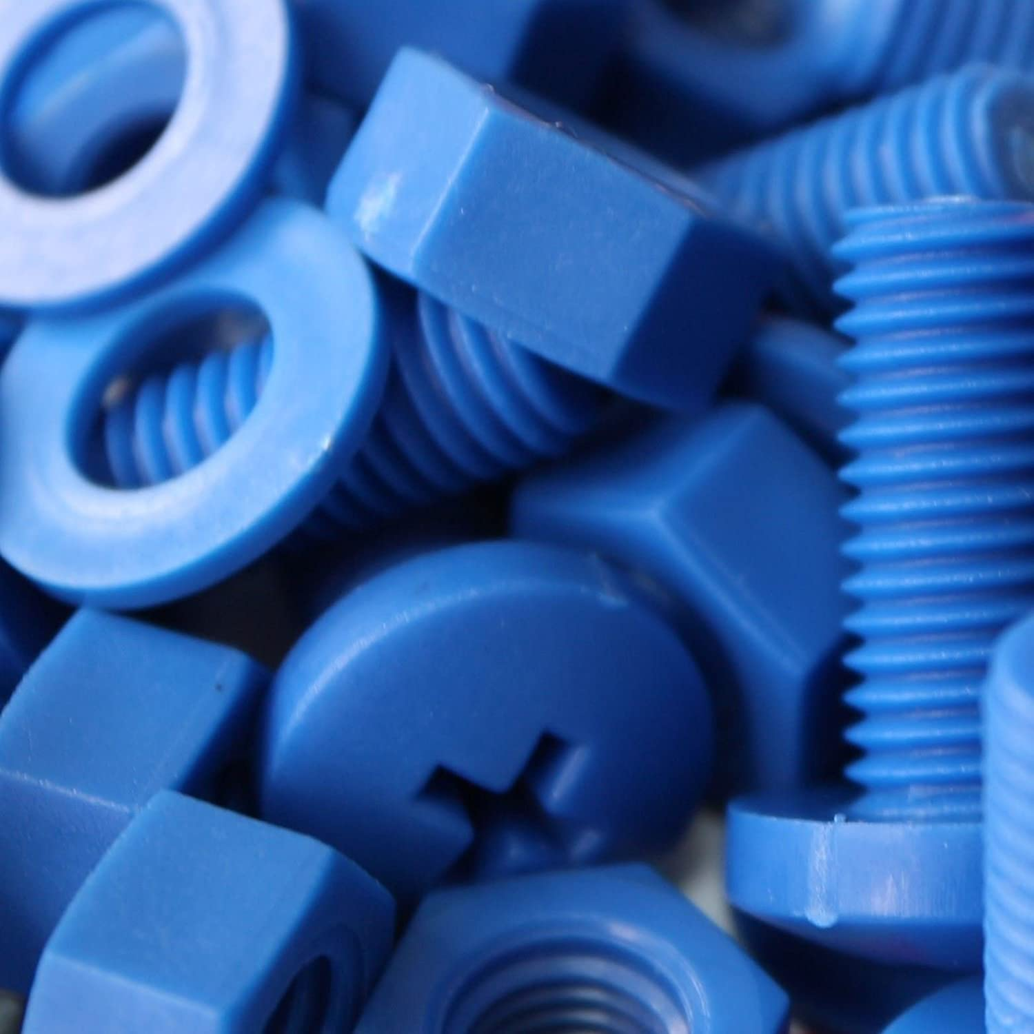 Anti-Corrosion M8 x 20mm Electrical Insulator Acrylic 5//16 x 25//32 Electrical Insulator 5//16 x 25//32 Caterpillar Red PP Plastic Nuts Bolts 20 x Blue Philips Pan Head Screws Polypropylene Washers Chemical Resistant Water Resistant