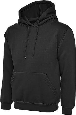 New UNEEK Pullover Heavyweight HOODIE Unisex Mens Womens Hooded Sweat BLACK M