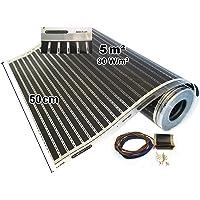 Calorique infrarouge bandes chauffantes électriques de chauffage au sol 50 cm 90 w/m² avec un chauffage au sol 0, 5–20,0 m², 230.00|voltsV