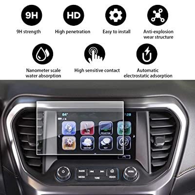 YEE PIN 2020 Acadia GMC Screen Protector for 2020 2020 2020 GMC Acadia SLE2 SLT Denali Intelli Link 8 Inch Center Control Touch Screen, Car Navigation Display Glass Protective Film 9H Anti-Scratch : Camera & Photo