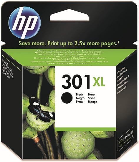 Oferta amazon: HP 301XL CH563EE, Negro, Cartucho de Tinta de Alta Capacidad Original, compatible con impresoras de inyección de tinta HP DeskJet 1050, 2540, 3050;OfficeJet 2620,4630;ENVY 4500,5530