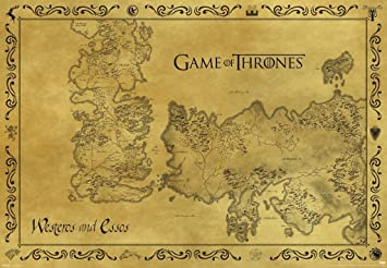 Amazon.com: Game Of Thrones Mapa Antiguo Westeros Essos HBO ...