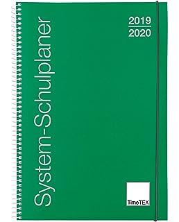 Schuljahr 2019-2020 Timetex 10505 Lehrerkalender TimeTex Universal-Schulplaner A5-Plus Blau Gebunden Unterrichtsplaner