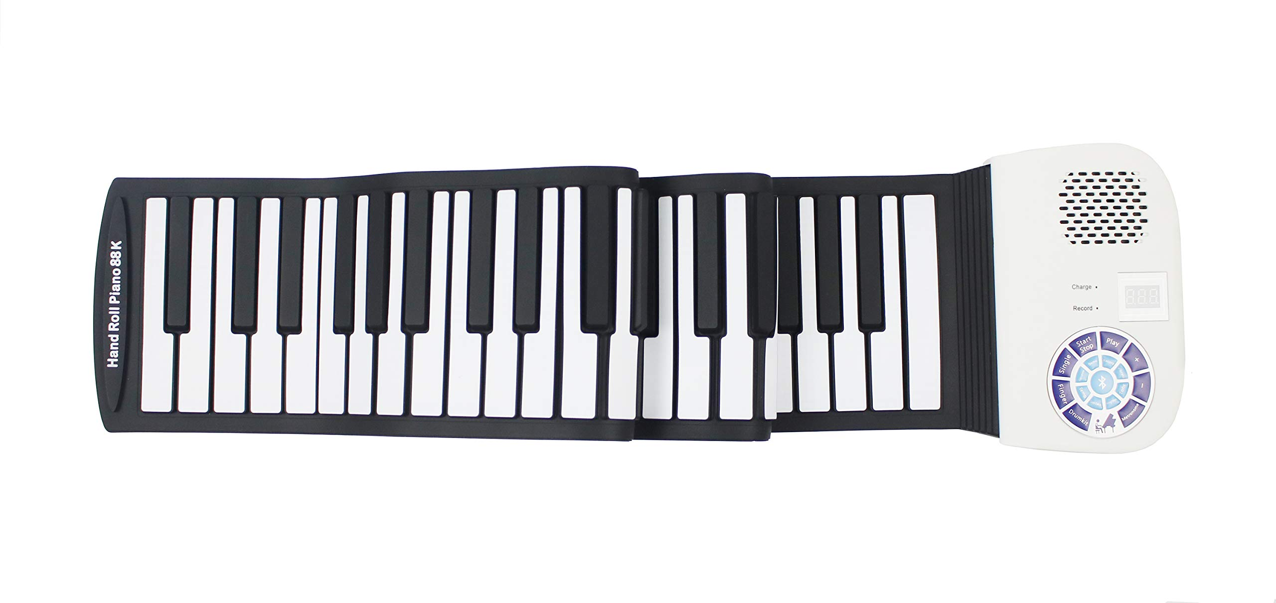 iLearnMusic Roll Up Piano, Premium Grade Silicone, Built-in Speakers - Educational Piano (61 Keys (F61)) by iLearnMusic