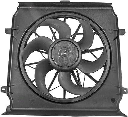 Radiador de refrigeración ventilador Motor Asamblea repuesto para Jeep SUV 55037692 AB: Amazon.es: Coche y moto