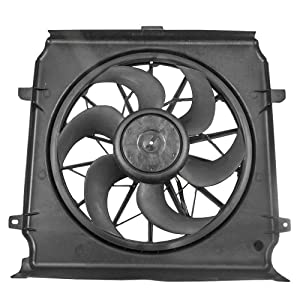 Radiator Cooling Fan Motor Assembly Replacement for Jeep Liberty 3.7L 2.4L 55037692AB