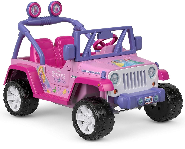 Pink Jeep Wrangler >> Details About Power Wheels Disney Princess Jeep Wrangler 12v 5 Mph Gift For Girls Kids Pink