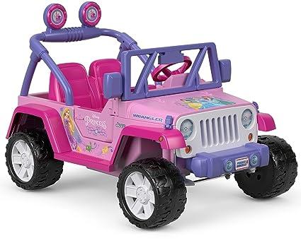Pink Jeep Wrangler >> Amazon Com Power Wheels Disney Princess Jeep Wrangler Toys Games