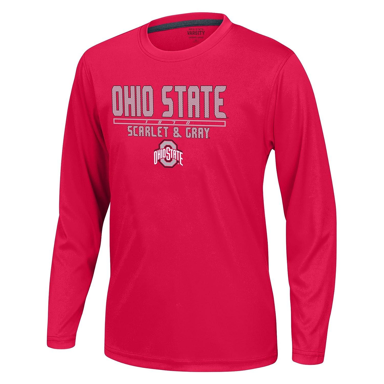 Red J America NCAA Ohio State Buckeyes Boys Youth School Slogan Long Sleeve Callout Poly Tee Medium