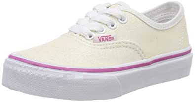 1520601cb9f478 Vans Kids Glitter Authentic Rainbow White VN0A38H3Q7F Kids Size 2.5
