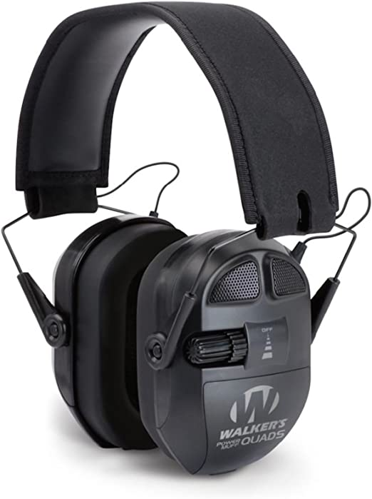 Walkers Game Ear Ultimate Power Muff Quad con AFT//Elettrico