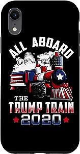 iPhone XR All Aboard The Trump Train Trump 2020 Supporter Apparel Case