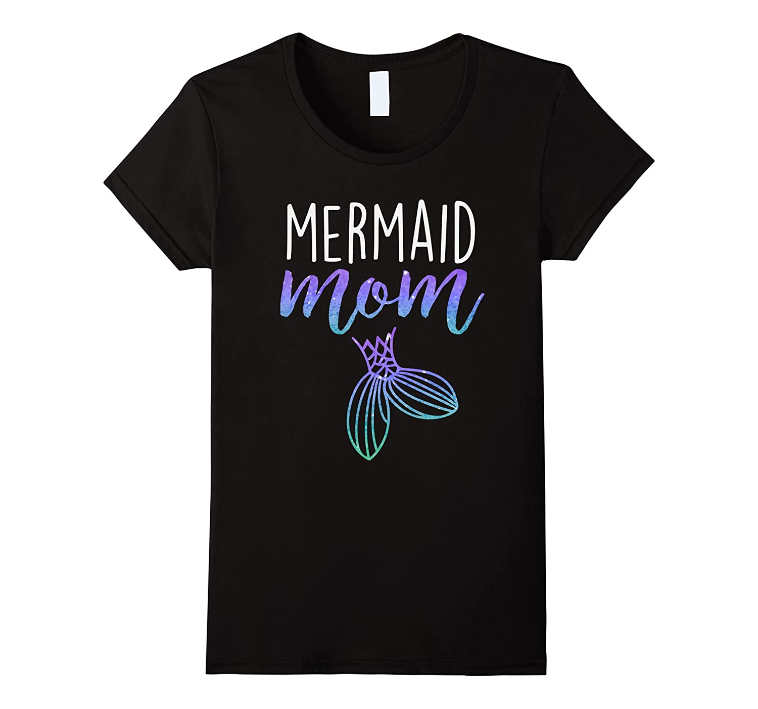 Womens Mermaid Mom Mermaid Birthday Party Shirt-T-Shirt