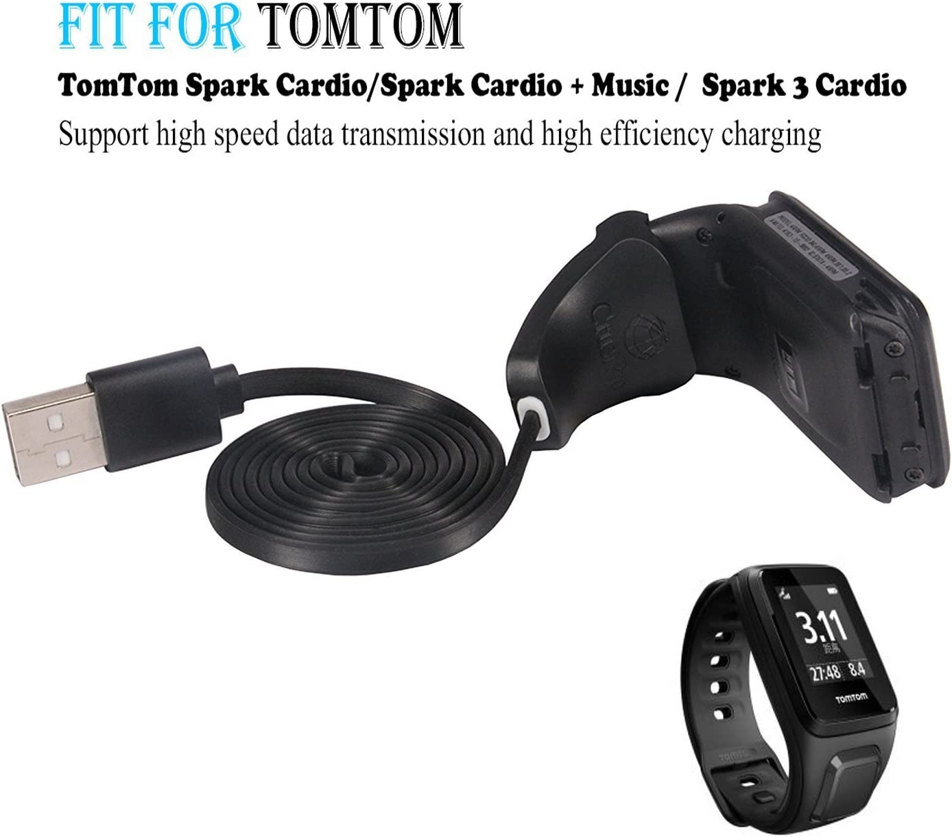 Amazon.com: TomTom Adventurer Charger Cable, sustituir Cable ...