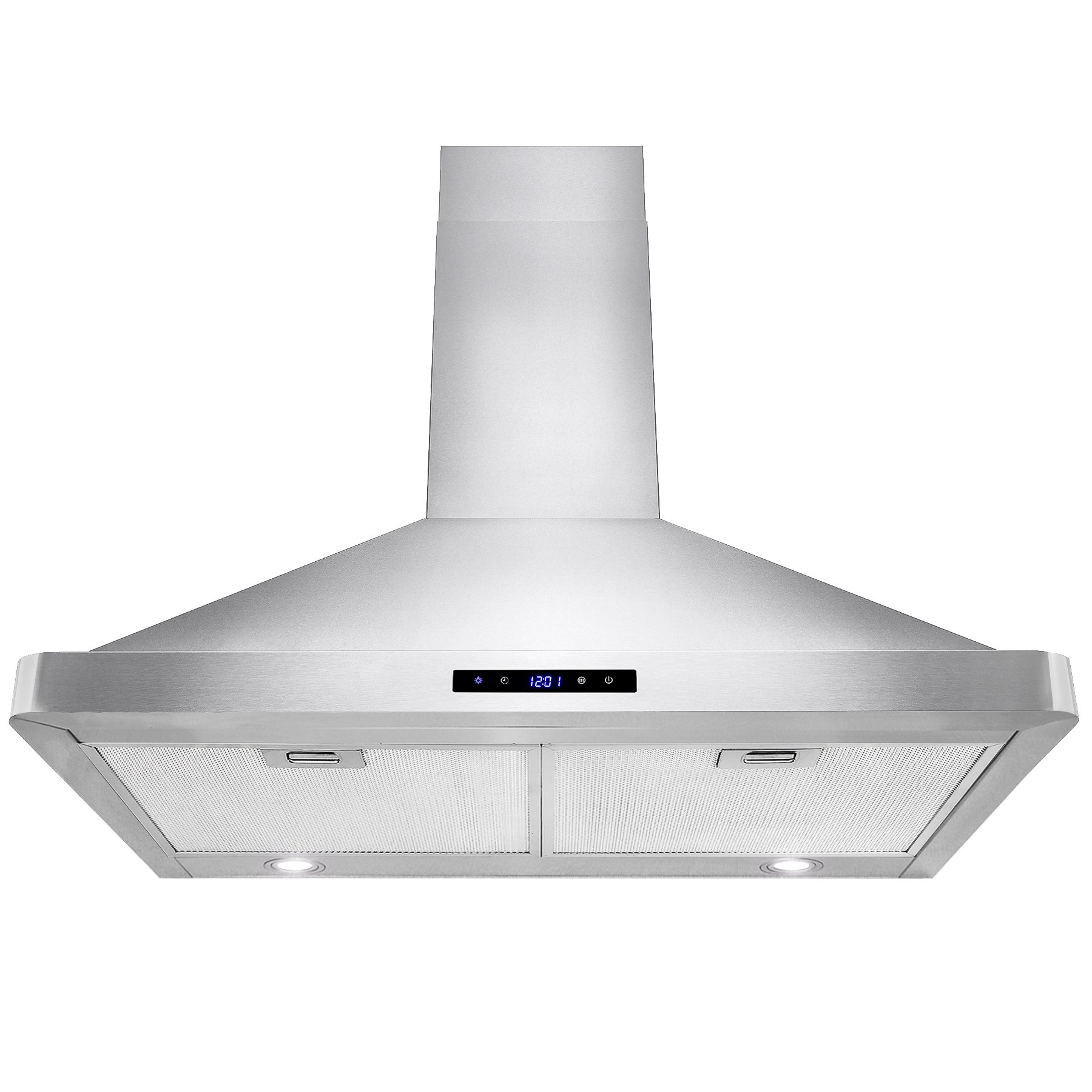 AKDY 30'' Kitchen Wall Mount Stainless Steel Touch Panel Control Range Hood LED Touch Control