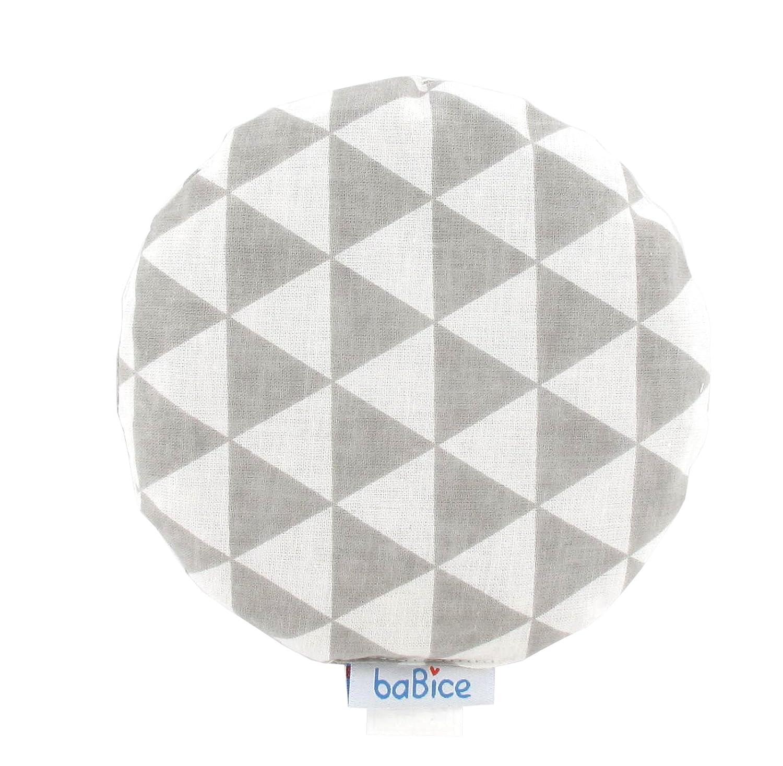 W/ärmkissen Kirschkernkissen rund von baBice baBice Kissen Muster:F/üchse//Dreiecke