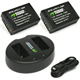 Wasabi Power Battery (2-Pack) and Dual Charger for Canon LP-E17 and Canon EOS 77D, EOS 750D, EOS 760D, EOS 8000D, EOS M3, EOS M5, EOS M6, EOS Rebel T6i , EOS Rebel T6s, EOS Rebel T7i, Kiss X8i
