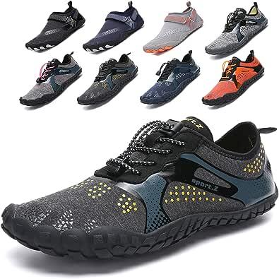 Lvptsh Zapatos de Agua para Hombre Zapatos de Playa Zapatillas Minimalistas de Barefoot Secado Rápido Calcetines de Piel Descalza Escarpines de Verano Deportes Acuáticos
