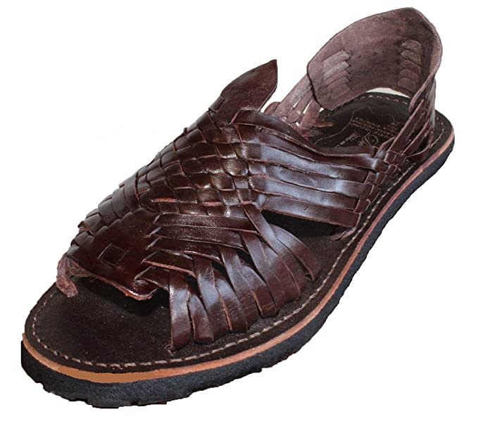 b2e8bae91ab2 MEXICAN SANDALS-Men s Genuine Leather Quality Handmade Sandals Huarache  Brown 6