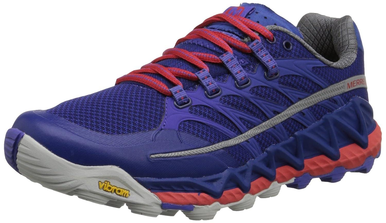 Merrell Women's All Out Peak Trail Running Shoe B00RDK808E 7.5 B(M) US Royal Blue/Orange