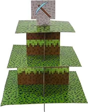 """Amazon.com: Soporte """"Mining Fun"""" para cupcakes, decoraciones ..."""