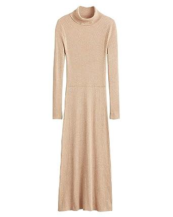 Mango Damen Langes Kleid gerippt 43020839  Amazon.de  Bekleidung 711f233bc6