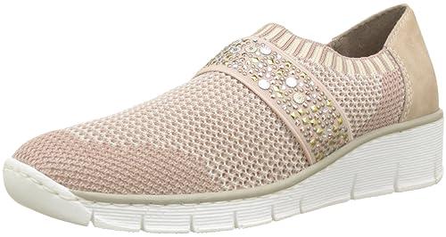 sale retailer 05dd8 1eb20 Amazon.com | Rieker Damen-Slipper Rosa 942284-42 | Loafers ...