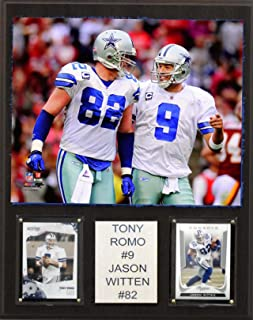 30dbbbf0f NFL Tony Romo and Jason Witten Dallas Cowboys Player Plaque, Brown, 12 x 15
