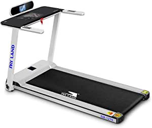 Skyland Unisex Adult Home Used Treadmil with A Foldable Handle, 2 HP Motor - White, L 150 x W 71 x H 110 cm