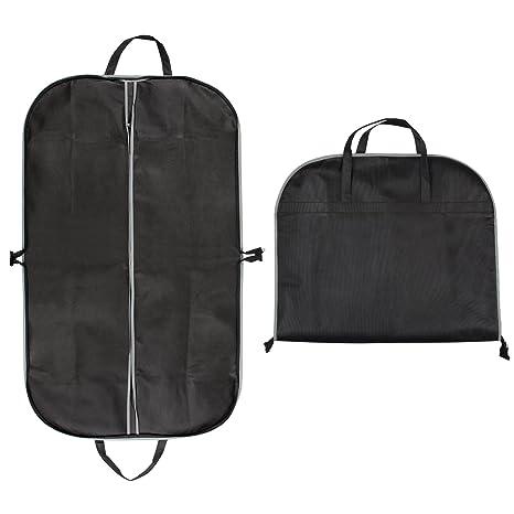 BIGWING Style Fundas para Ropa Funda para Trajes o Vestidos para Alfombra de Transporte Viaje o Almacenaje, Negro
