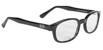 2759cb89f88 Pacific Coast Original KD s Biker Sunglasses (Black Frame Clear Lens ...