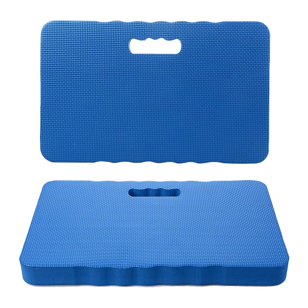IronBuddy 2Pcs Kneeling Cushions EVA Thick Foam Kneeling Mats Portable Waterproof Kneeling Pad for Garden,Baby Bath,Yoga,Exercise(17.7x11.6x1.6 inches)