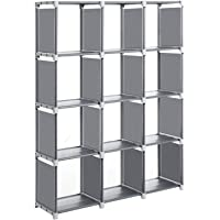 SONGMICS Cubos de Almacenamiento, Librería con 12 Compartimentos