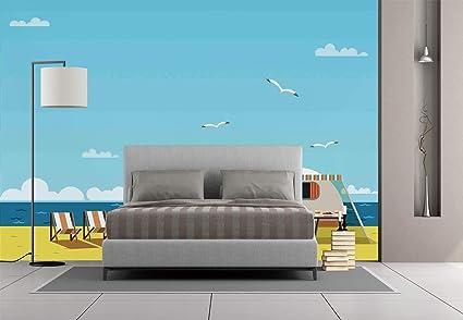 Amazon com: Large Wall Mural Sticker [ Seaside Decor