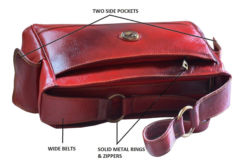 GenWayne Women Leather Red Shoulder Bag  Amazon.in  Shoes   Handbags c1275704de
