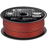 InstallGear 16 Gauge AWG 250ft Speaker Wire True Spec and Soft Touch Cable - Red/Black